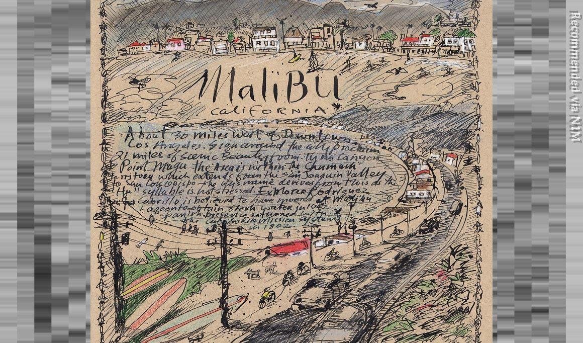 HERE IN MALIBU