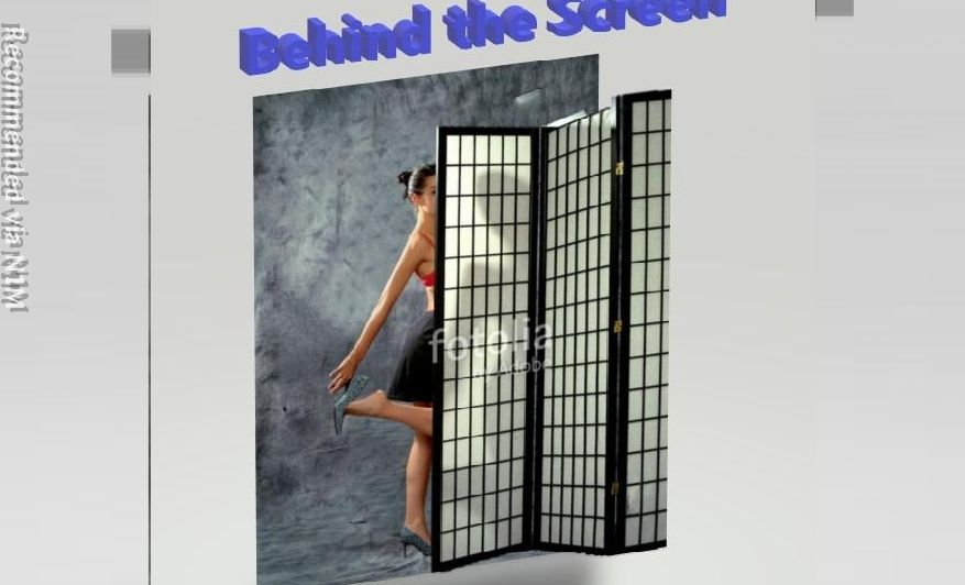 Derriere le paravent - Behind the screen