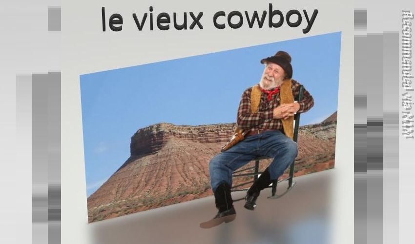 le vieux cowboy - the old cowboy