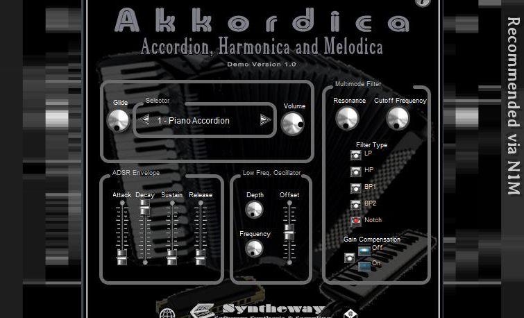Virtual Accordion VST Plugin: Akkordica by Syntheway  VST
