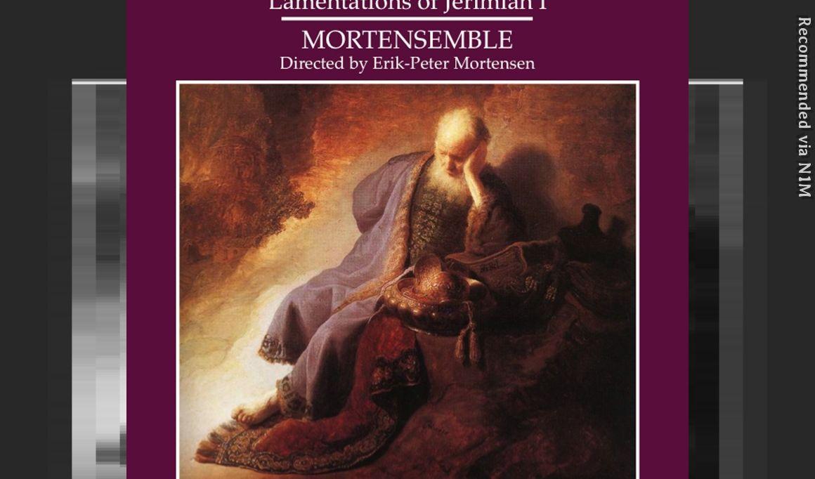 The Lamentations of Jeremiah-Part 1: Thomas Tallis
