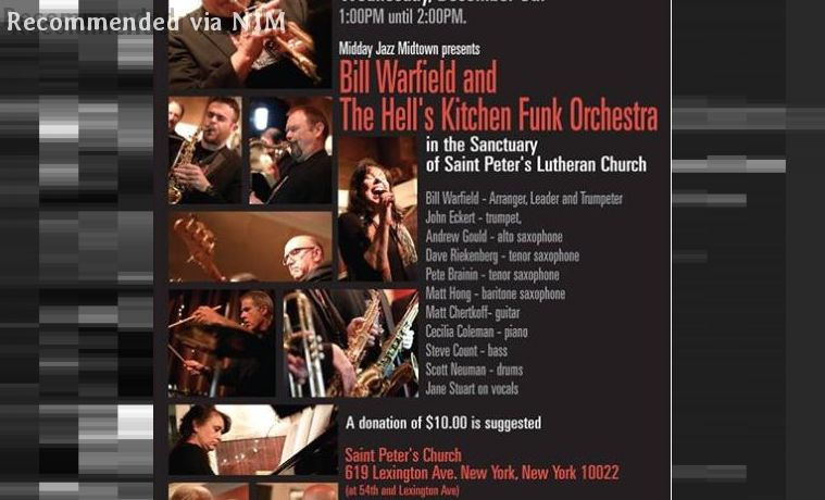Bill Warfield and the Hell's Kitchen Funk Orchestra @ N1M