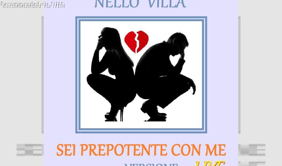 Sei prepotente con me - Performance Live by Nello Villa in a theater in Genoa